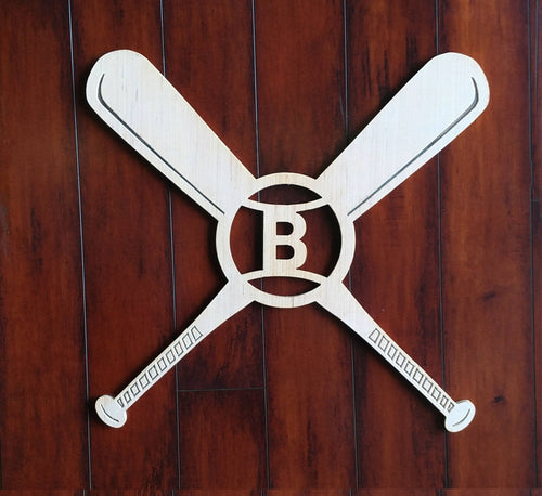 Custom Baseball Wall Monogram