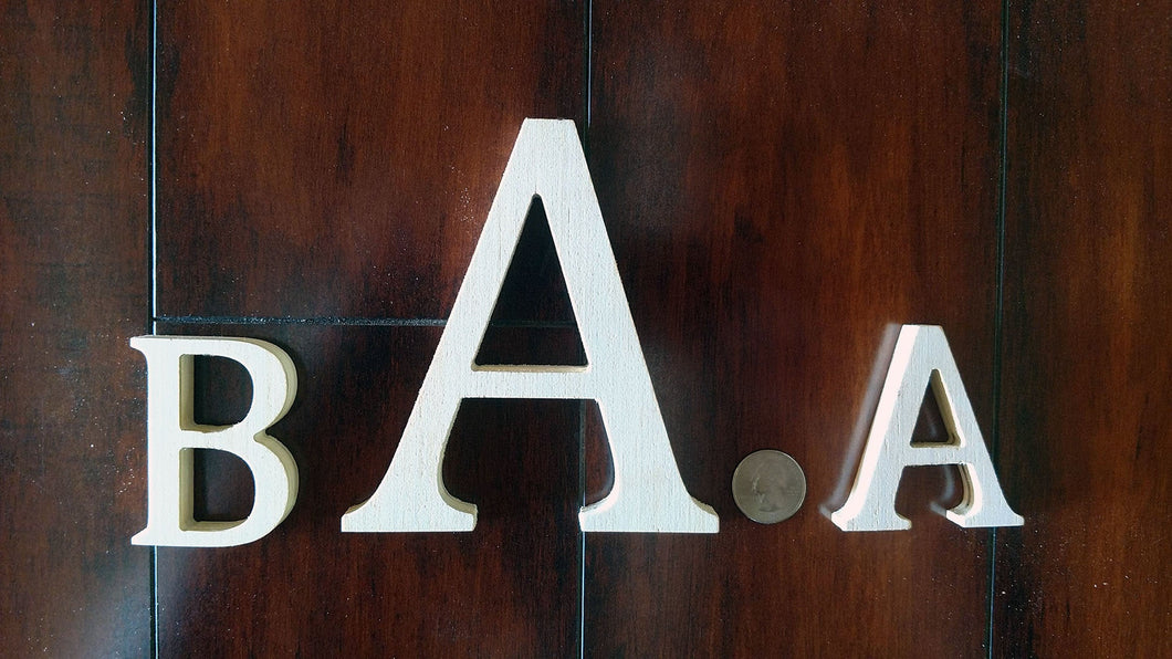 Wooden Capital Formal Letters  - Unfinished Decorative Letters