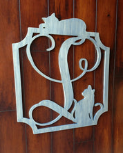 Load image into Gallery viewer, Monogram Signs for Front Door Decor for Cat Lovers
