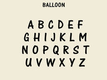 Load image into Gallery viewer, Wooden Capital Balloon Letters  - Unfinished Decorative Letters