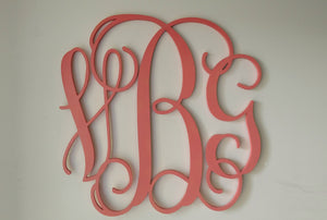 Tall Wooden Monogram Initials