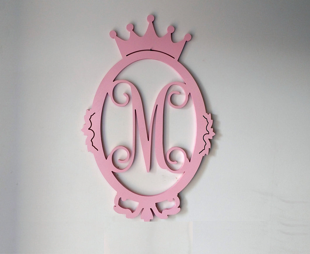 Princess Letter Monogram for Girl's Room - Wall or Door Decor
