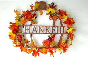 Thanksgiving Pumpkin Fall Wall Decor