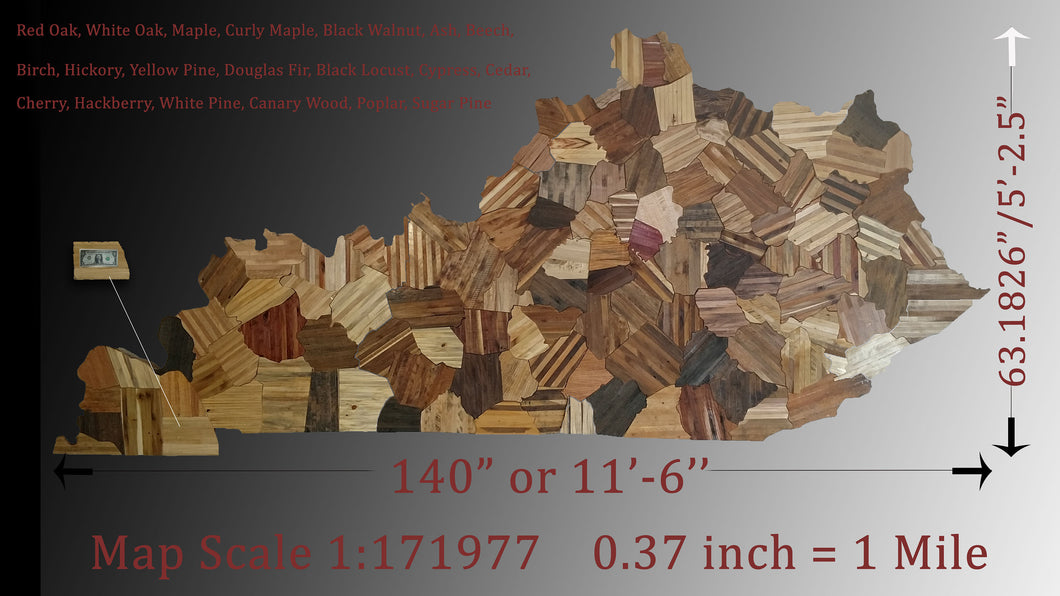 Giant State Wall Display - Huge Statement Art Piece