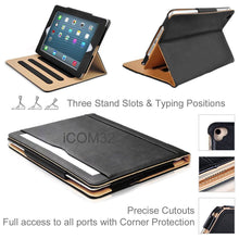 "Load image into Gallery viewer, iPad 9.7"" (2017/2018) Luxury Magnetic Leather Smart Case"