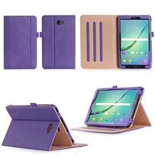 "Load image into Gallery viewer, Samsung Galaxy Tab A6 10.1"" (T580 T585) Luxury Magnetic Leather Smart Case"