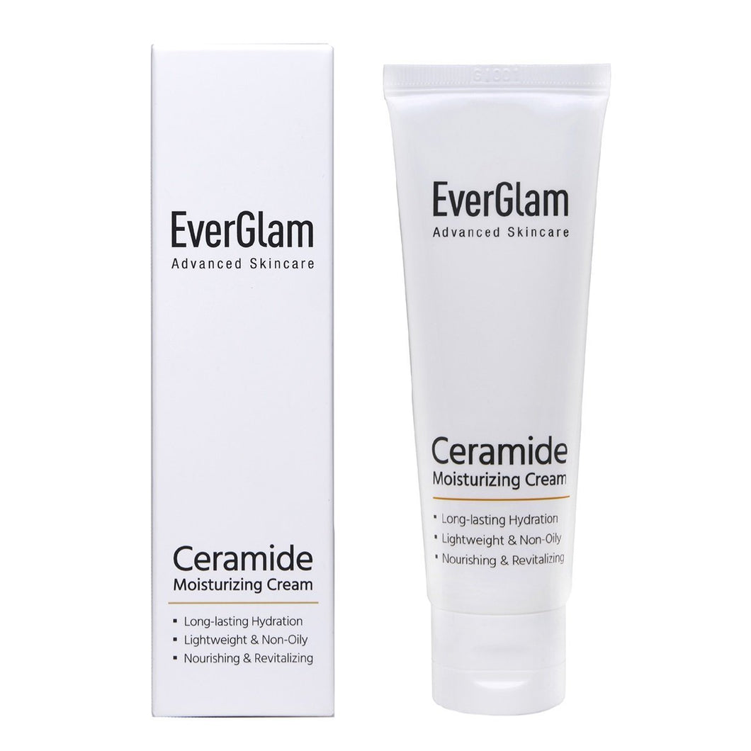 Deeply Moisturizing Face Cream Featuring Ceramides & Cica - Long-Lasting, Lightweight & Non-Oily With Rejuvenating & Anti-Aging Formula That Improves Overall Skin Texture | Korean Skincare By EverGlam