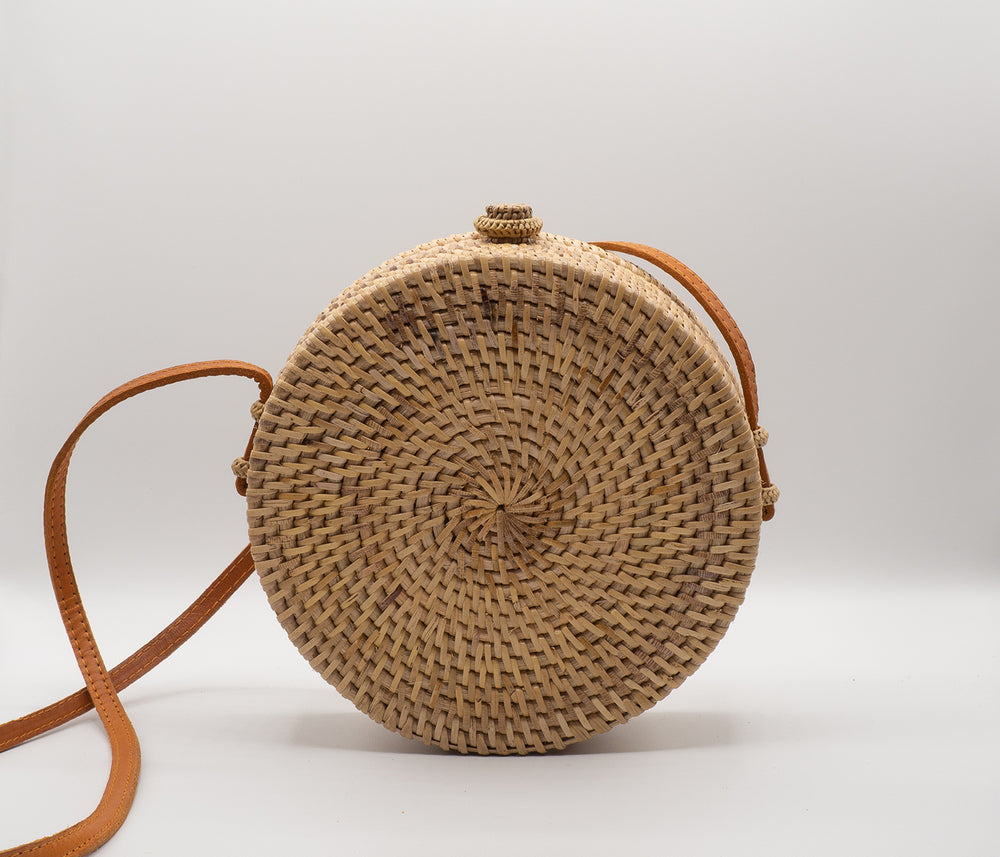 Braided Rattan Bag