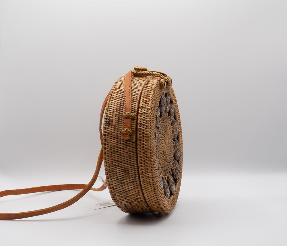 Coco Rattan Bag (One Sided Pattern)