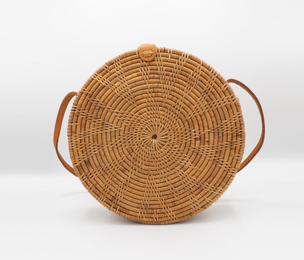 Round Rattan Flower Bag (Large)