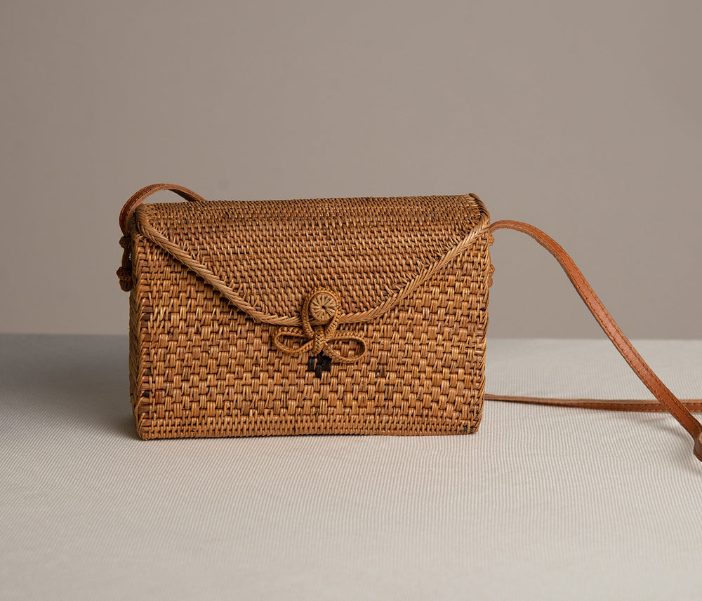 Rectangular Rattan Bag