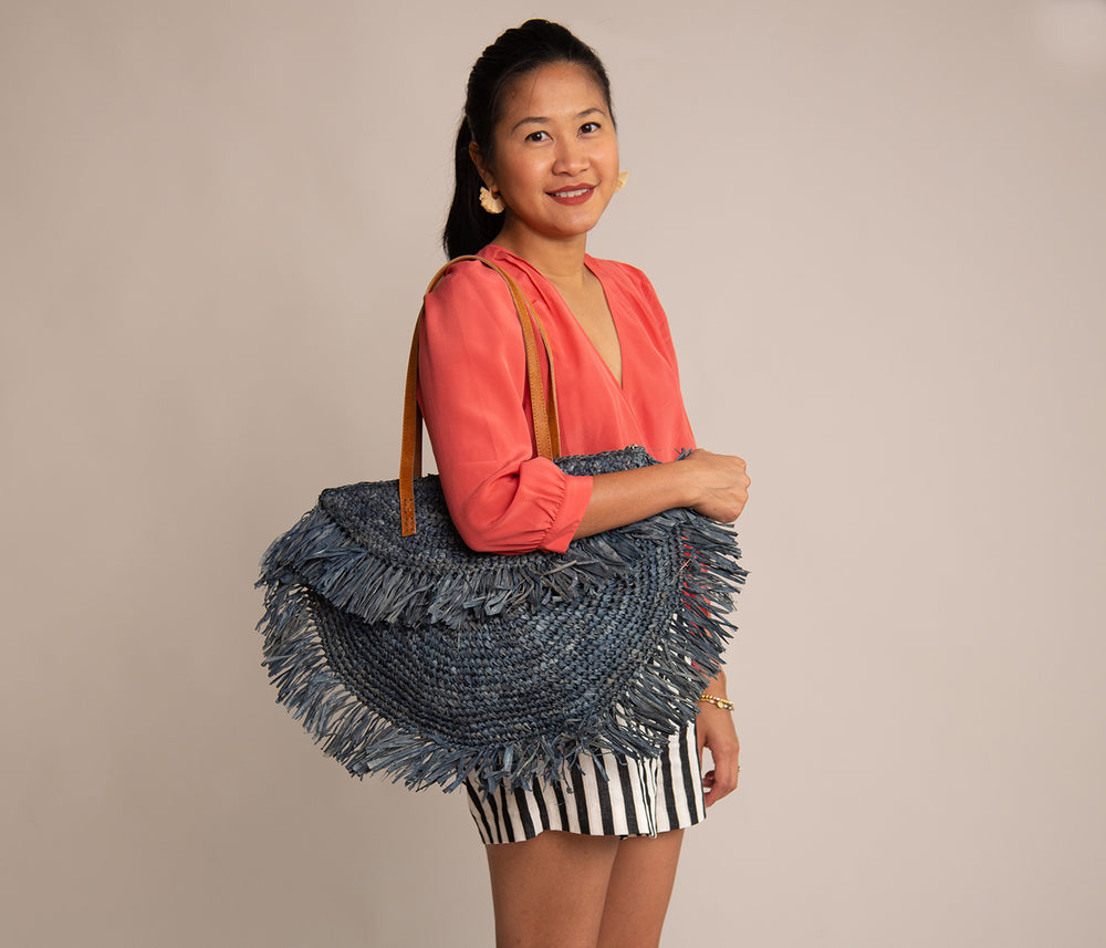 Fringe Shoulder Bag Grey