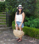 straw fringe bag