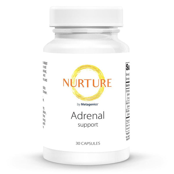Adrenal Support Supplements NURTURE BY METAGENICS 30 vegetarian capsules