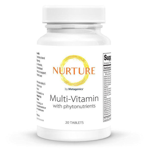 Multi-Vitamin With Phytonutrients Supplements NURTURE BY METAGENICS 20 tablets