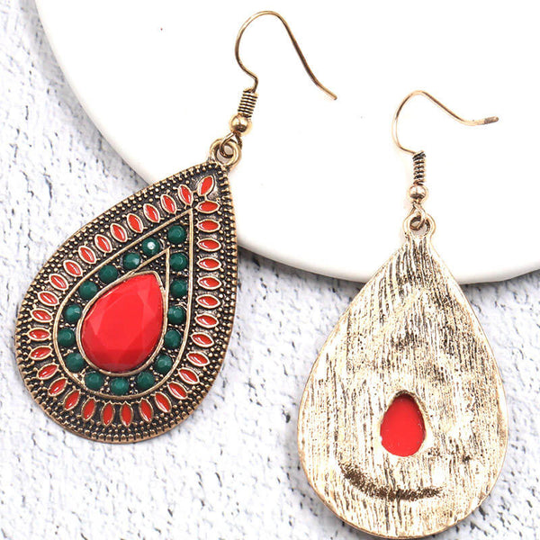Ethnic Bohemia Water Drop Women Earrings