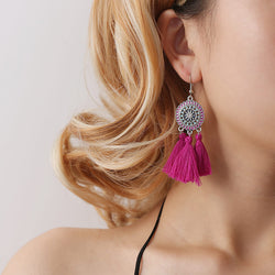Geometric Sunflower Tassel Drop Earrings 3 pair/set