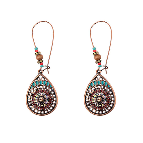Bohemian Vintage Indian Jhumka Water Drop Earrings