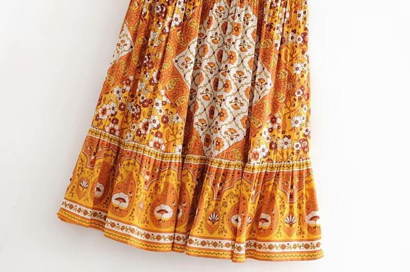 Retro Drawstring Waist Skirt - Shes Lady