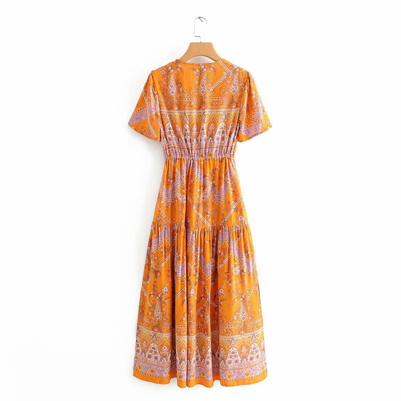 Bohemian Vacation Split Floral Long Dress - Shes Lady