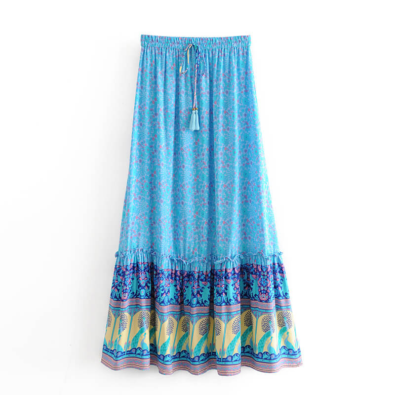 Boho Chic Casual Floral Skirt - Shes Lady