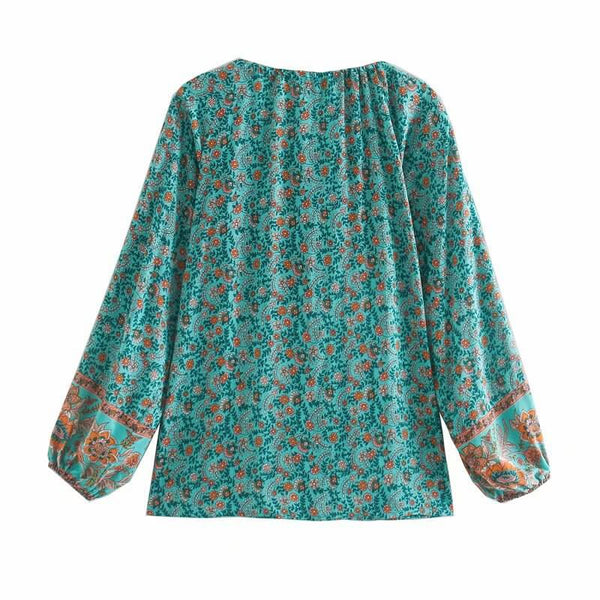 Button Front Floral Top - Shes Lady