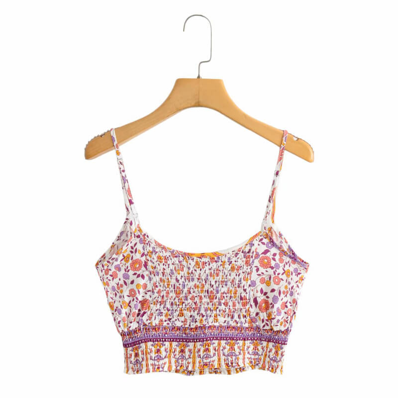 Two Piece Outfits Strap Sleeveless Tops Bohemian Sashes Drawstring Pants