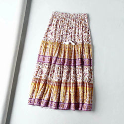 Bohemian Chic Floral High Waist Skirt - Shes Lady