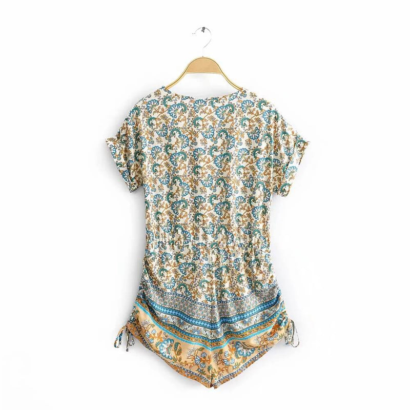 Hippie Floral Printed Playsuits Beach Casual Rompers - Shes Lady