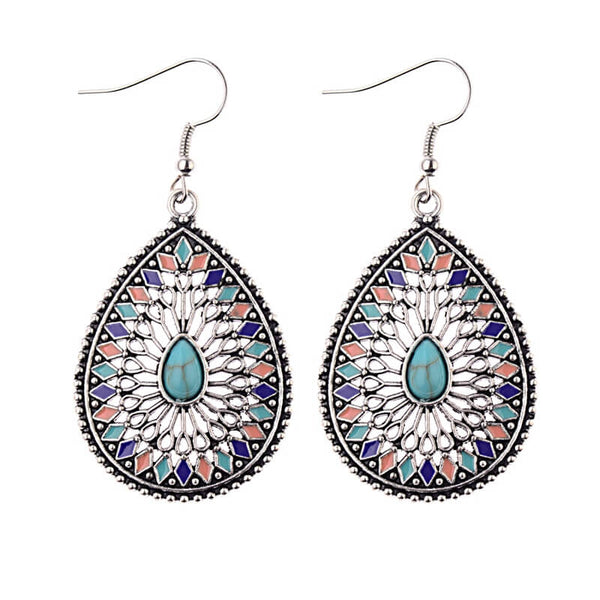 Boho Vintage Ethnic Essential Oils Dangling Earrings