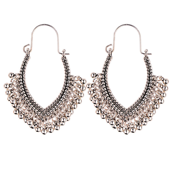 Vintage Ethnic Folk Geometric Drop Earrings