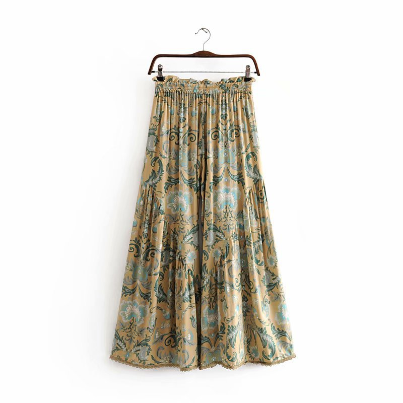 Gypsy Floral Print Wide Leg Pant - Shes Lady