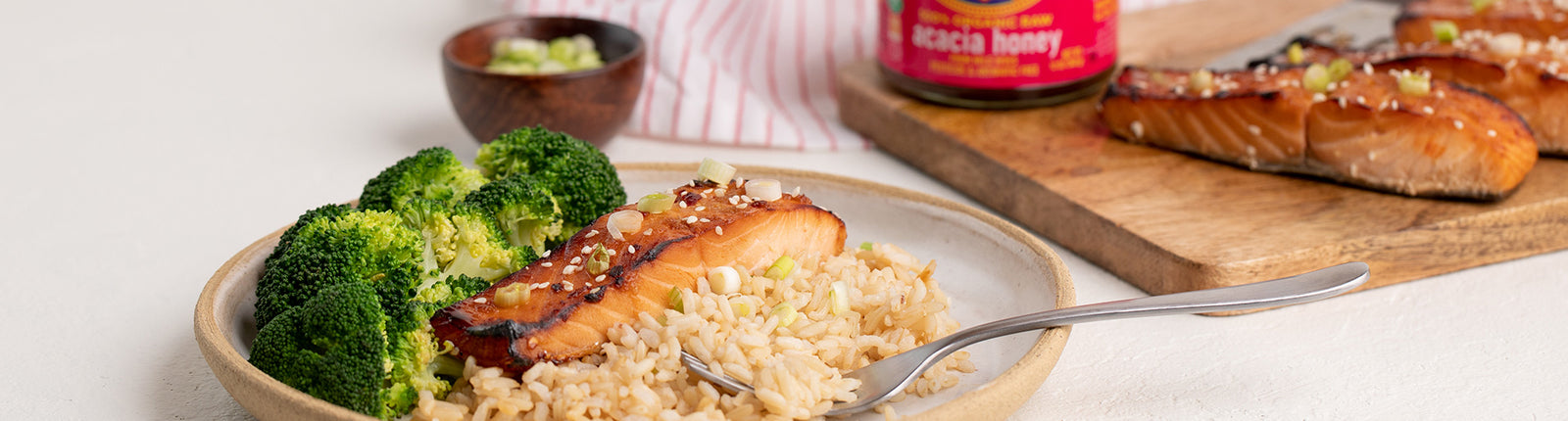 Honey & Ginger Glazed Salmon