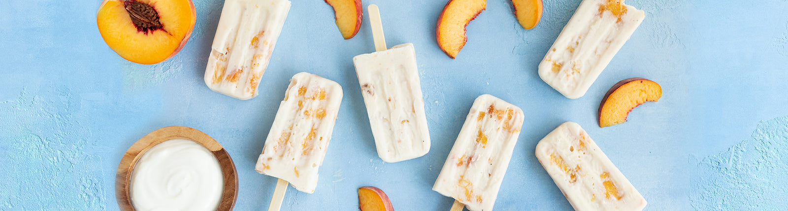 Peaches and Cream Acacia Honey Popsicles