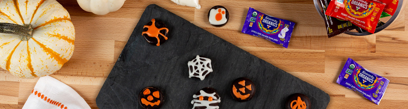 Trick-or-Treat: Spooky Chocolate Honey Patties