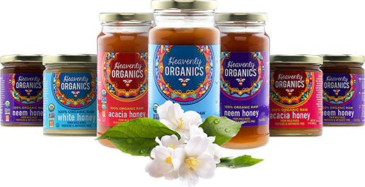 Heavenly Organics Earth Day inspired honey varieties