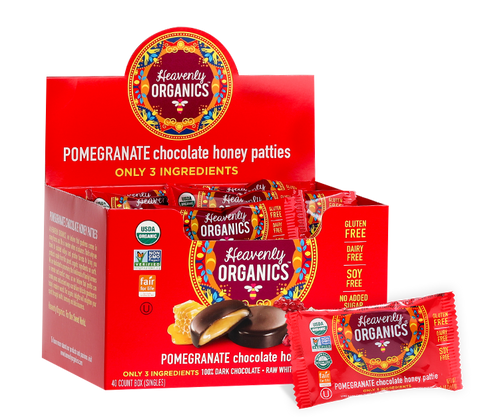 Pomegranate Chocolate Honey Patties