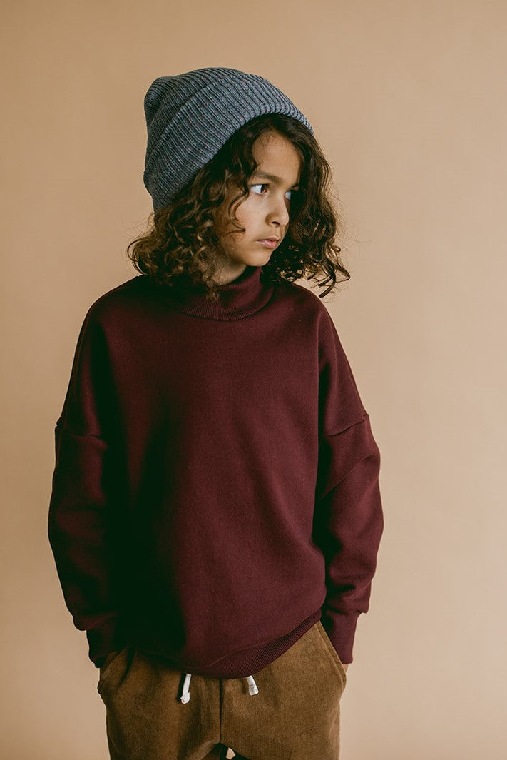 mock neck sweater | port royale