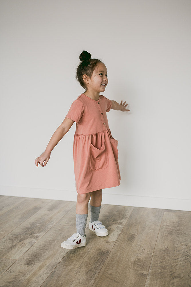 meadow dress | rose clay