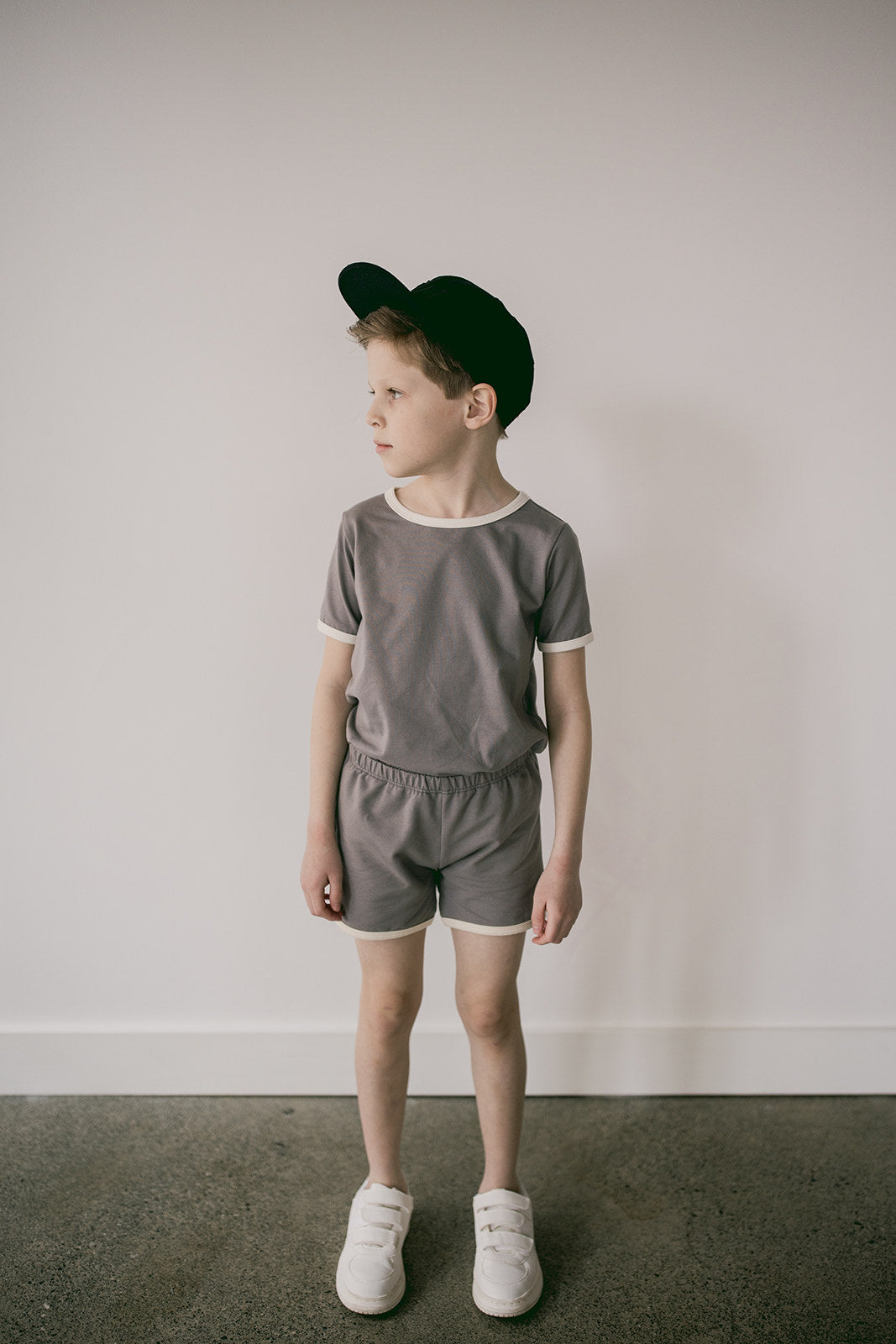 retro shorts | storm grey