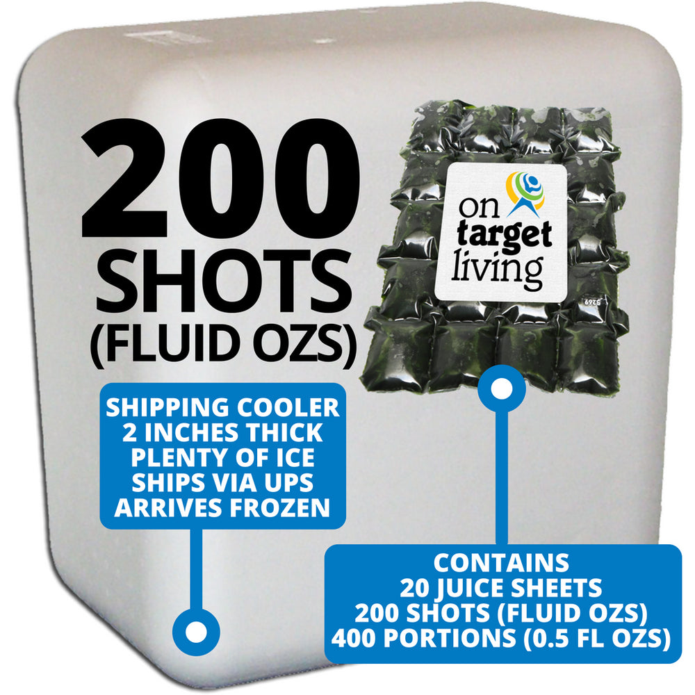 Frozen Wheatgrass Juice-200 FL OZS