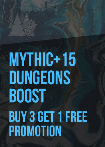 Mythic+15 Dungeons Boost (Buy 3 Get 1 Free Promotion) US