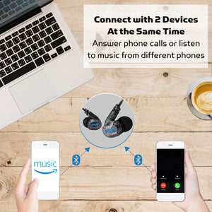 Connect with 2 Devices at the Same Time, Answer phone calls or listen to music from different phones