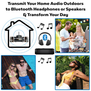 Transmit Your Home Audio Outdoors & Transform Your Day Outside, pool, patio, bluetooth speakers headphones