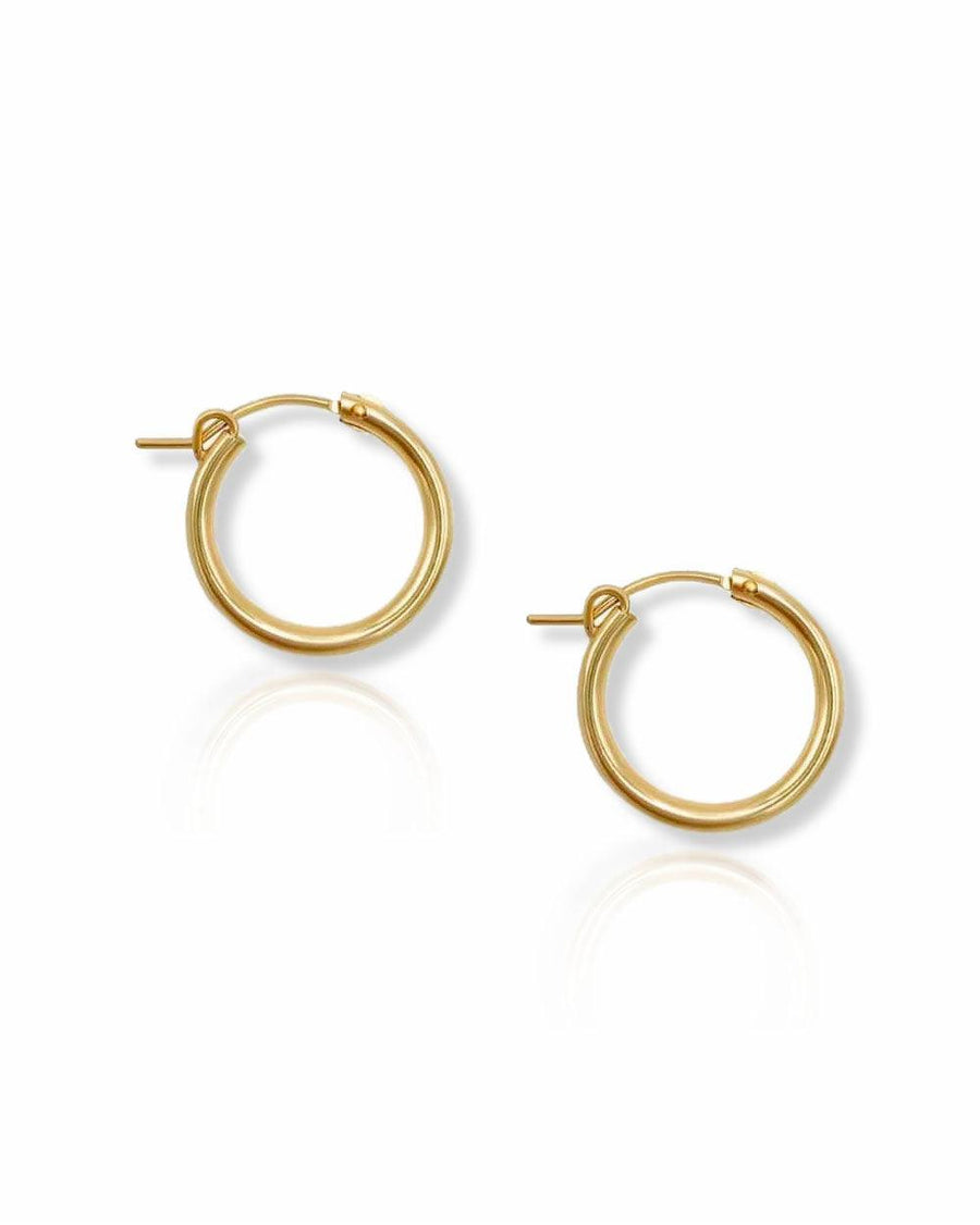 Andy 18mm Classic Hoops - OHZO JEWELLERY BY J