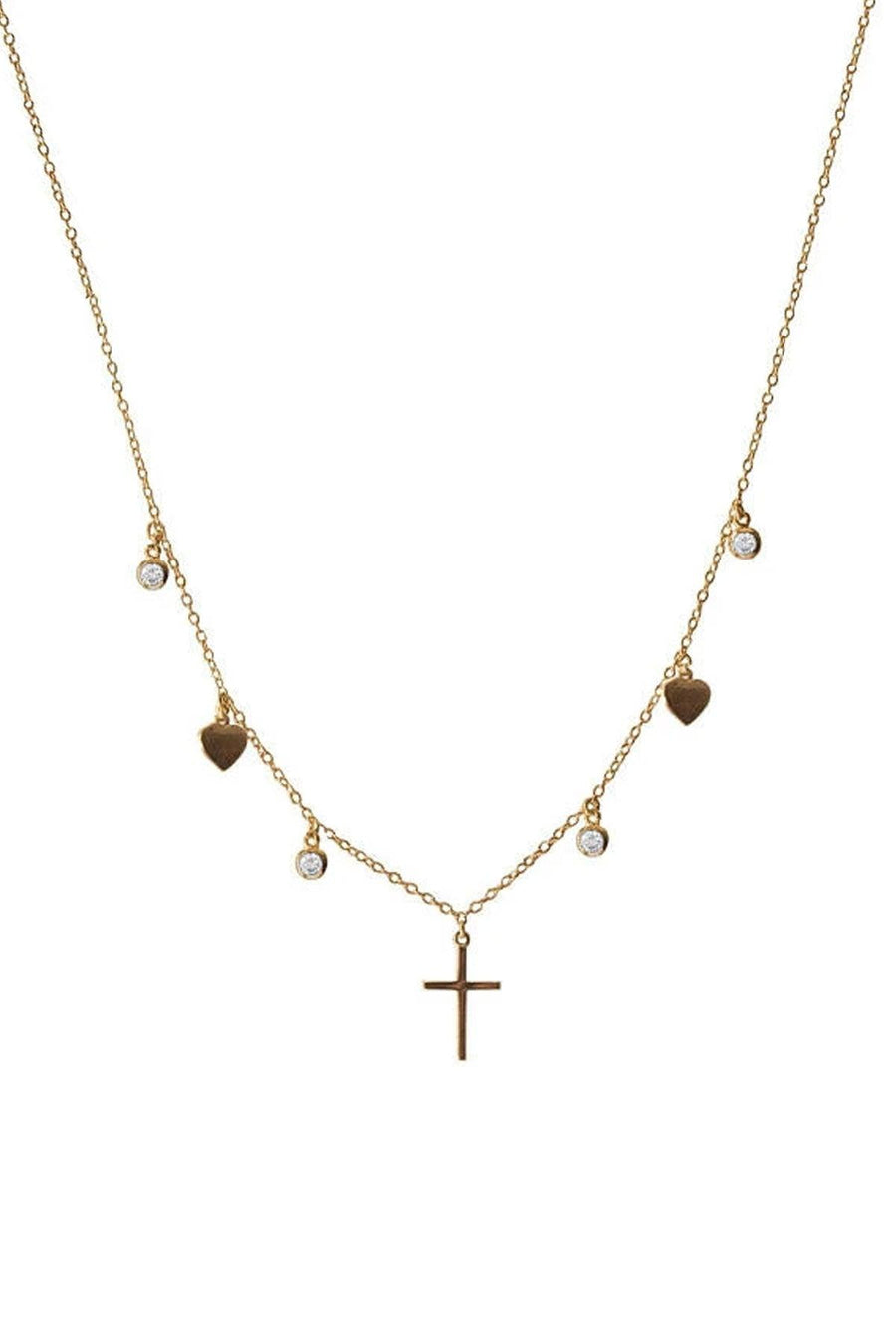 Cross Heart Choker - OHZO JEWELLERY BY J