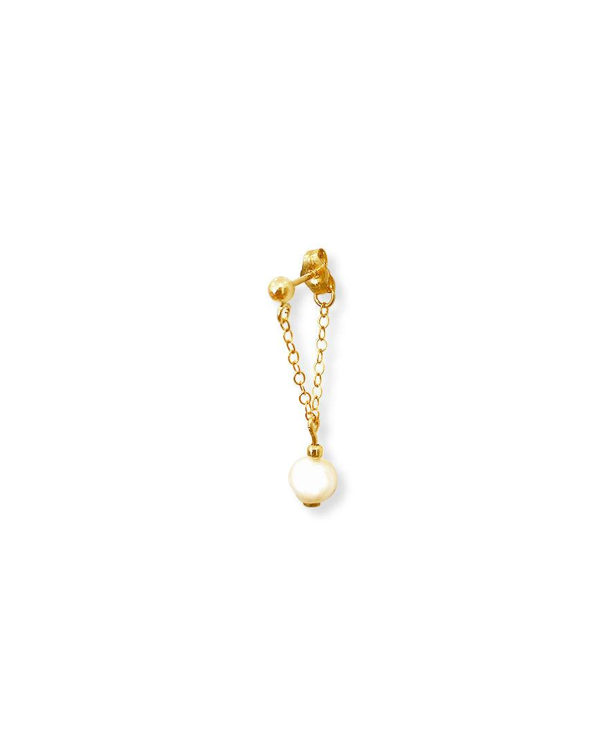 Tina Chained Peal Single Stud - OHZO JEWELLERY BY J