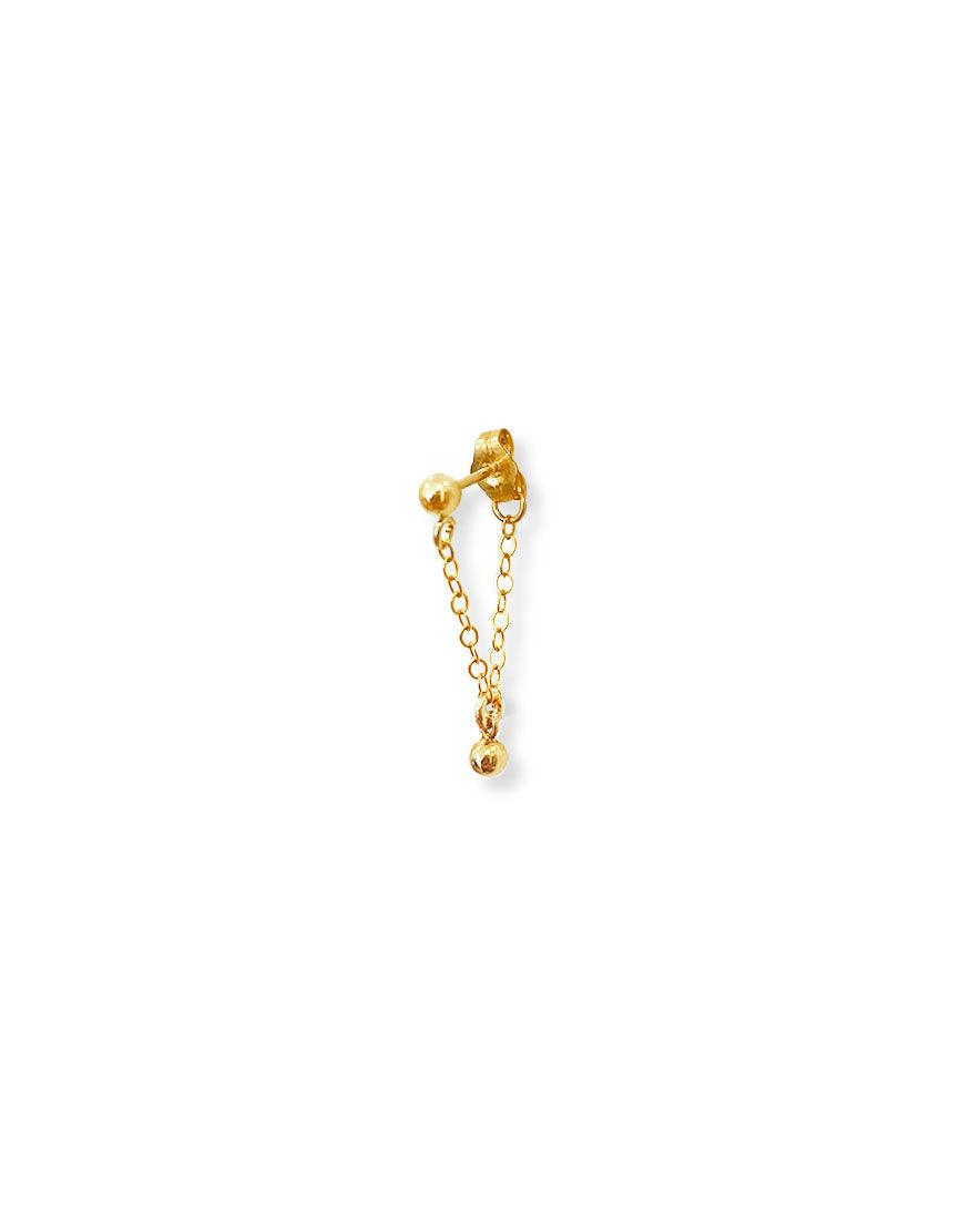 Tiny Ball Chained Stud - OHZO JEWELLERY BY J