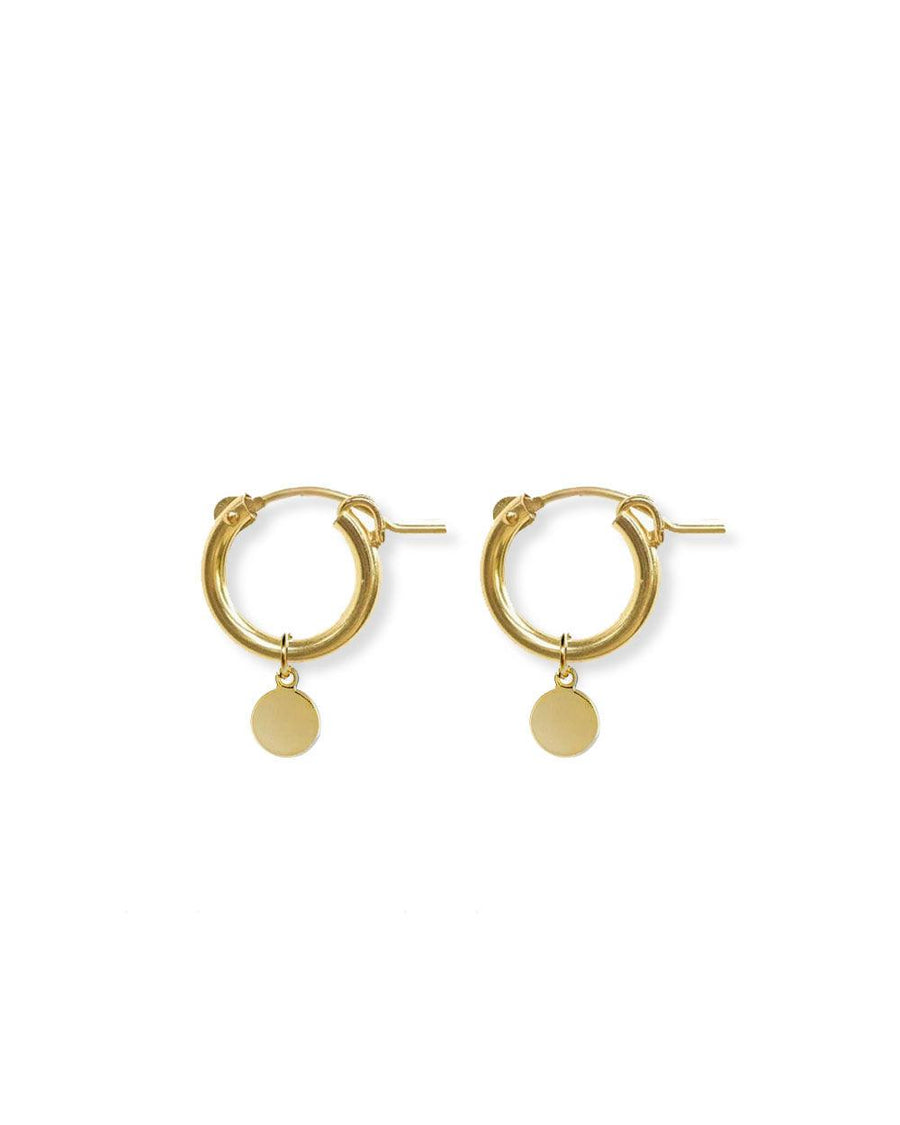 Julia Gold Coin Disc Hoops - OHZO JEWELLERY BY J