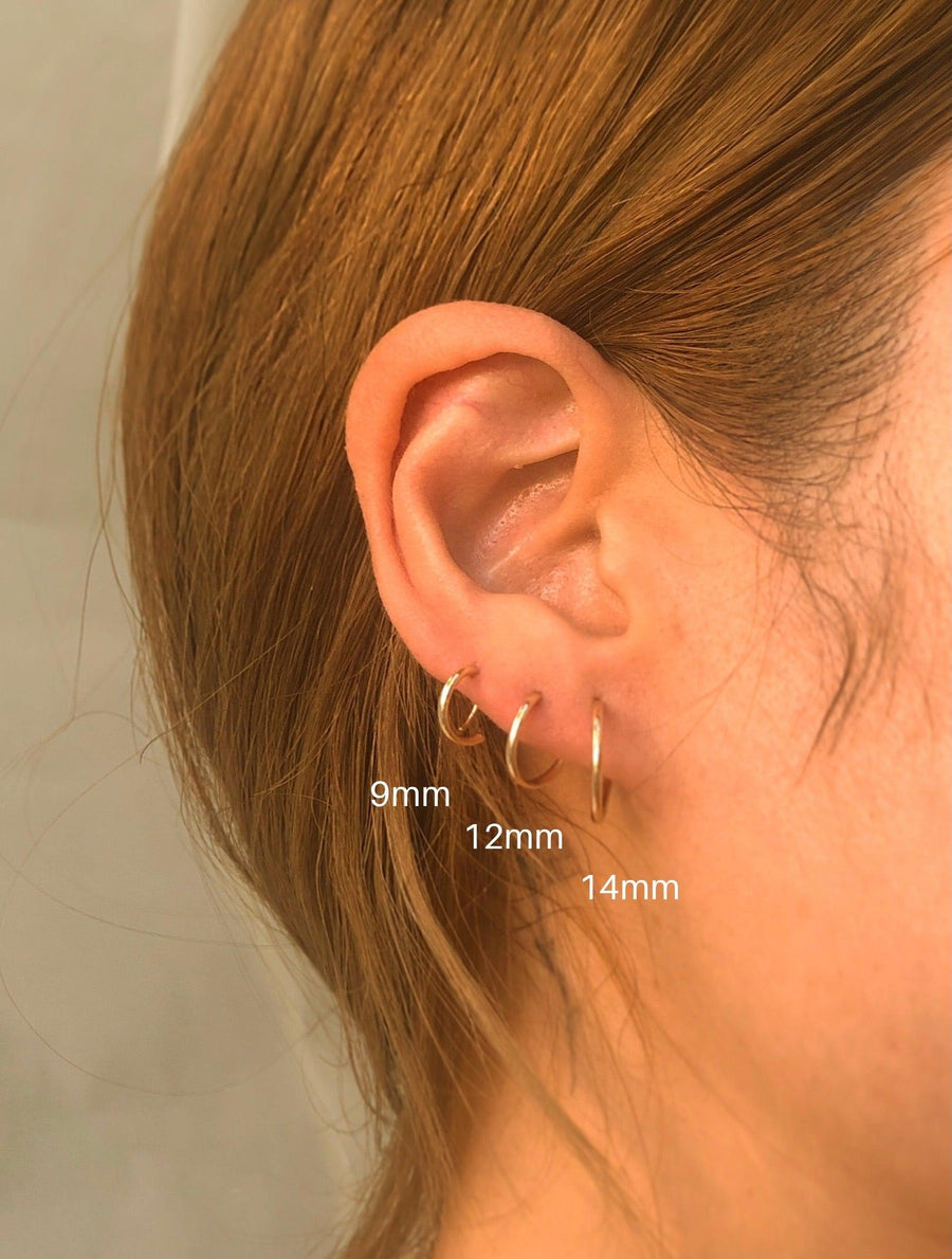 Mia Tiny 9mm / 12mm / 14mm Endless Hoops - OHZO JEWELLERY BY J